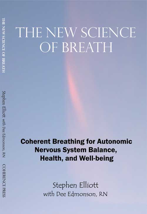 In 1905, the Yogi Publication Society published Yogi Ramacharaka's Science of Breath, which to this day remains one of his most popular and respected works. 100 years later, Stephen Elliott, accomplished student of Eastern yogic and martial arts, engineer, inventor, and life scientist, asserts a New Science of Breath. With it, Elliott offers us a revolutionary new theory of health based on breathing for autonomic nervous system balance, autonomic nervous function underlying all aspects of health and well being - body, mind, and spirit. Importantly, this new science sheds a light of hope on today's pandemic health challenges ranging from stress, anxiety, and chronic muscle tension, to hypertension and attention deficit disorder. The emerging medical understanding is that these conditions are rooted in autonomic nervous system imbalance - what has not been understood is the root cause of this imbalance. Elliott posits that the root cause is in fact suboptimal breathing. The New Science of Breath (ISBN 0978639901) introduces Coherent Breathing, a specific breathing modality that promotes autonomic nervous system balance and cardiopulmonary resonance. Autonomic balance yields peace of mind, well being, and enhanced biological function. The therapeutic efficacy of Coherent Breathing is supported by the work of integrative neurotherapist Dee Edmonson, RN, Fellow BCIA - EEG. Dee presents a dozen compelling case observations where Coherent Breathing was applied adjunctively with conventional forms of neurotherapy, all with profoundly positive result. This book is must reading for health care professionals, educated health enthusiasts, and serious athletes. For yoga and meditation enthusiasts, when combined with relaxation and stillness, Coherent Breathing directly results in meditation.